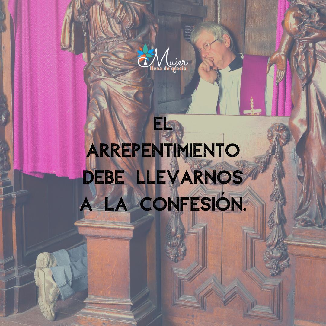 arrepentimiento confesión
